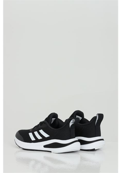 Black fortarun k sneakers with contrasting sole and bands. Baby model. Brand: Adidas ADIDAS | Sneakers | FW3719.