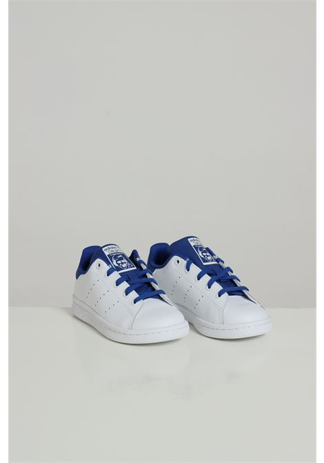 White Stan Smith C sneakers with blue laces. Baby model. Brand: Adidas ADIDAS | Sneakers | FW4490FTWWHT/ROYBLU