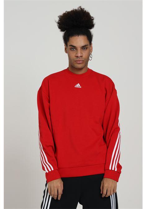 ADIDAS | Sweatshirt | GC7306SCARLE/WHITE