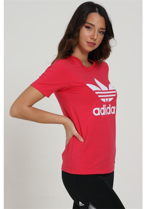 T-shirt con logo frontale ADIDAS | T-shirt | GD2312POWPNK/WHITE
