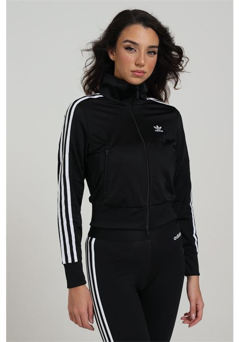 Women's sweatshirt black adidas with zip ADIDAS | Sweatshirt | GD2371BACK/WHITE