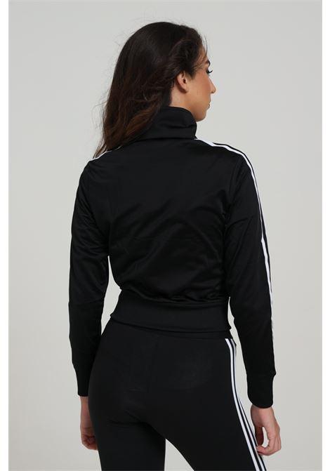 Felpa donna nera adidas con zip ADIDAS | Felpe | GD2371BACK/WHITE