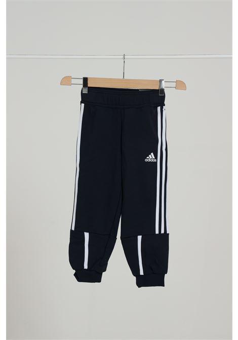Pantalone Con Molla In Vita E Bande Laterali ADIDAS | Pantaloni | GE0908LEGINK/ROYBLU