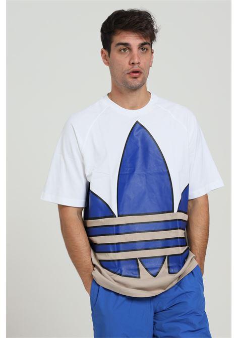 T-shirt con maxi logo ADIDAS | T-shirt | GE6223WHITE/ROYBLU