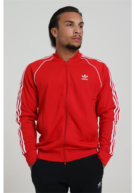 ADIDAS | Sweatshirt | GF0196SCARLE/WHITE