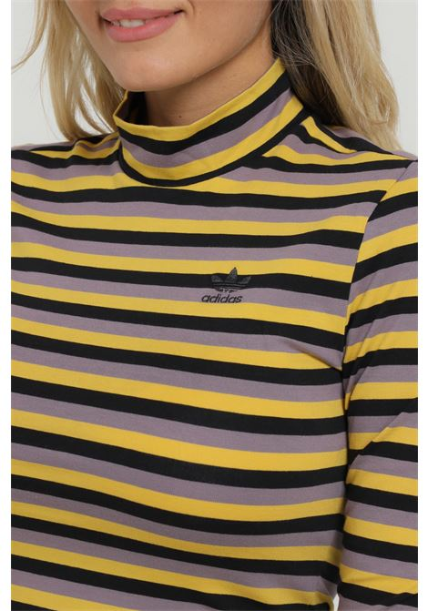 Maglioncino a righe a collo alto ADIDAS | Maglieria | GU0832BLACK/CORYEL