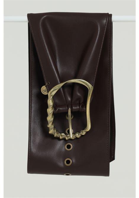 Cintura In Ecopelle Tinta Unita ARGENTO ANTICO | Cinture | AA1577MORO