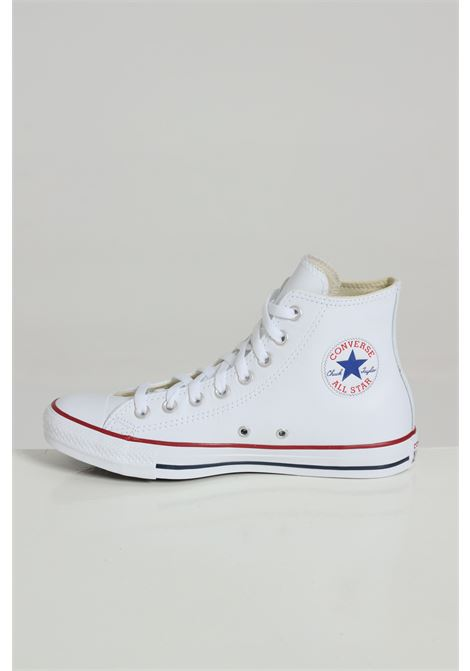 White sneakers in solid color, boot model with rubber sole and round toe. Closure with laces. Converse CONVERSE | Sneakers | 132169C100