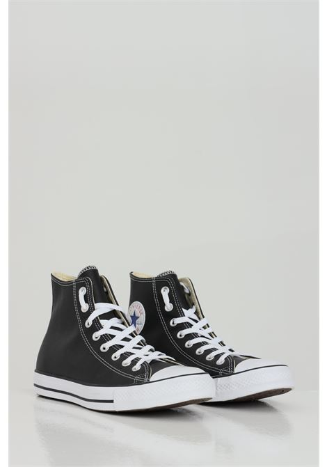 Black Ct hi sneakers with rubber sole and round toe, closure with laces. Boot model in leather. Converse CONVERSE | Sneakers | 132170C001