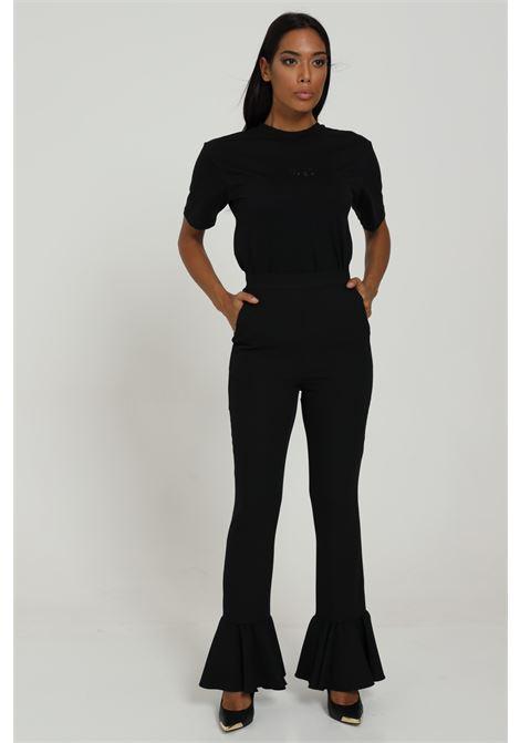 Pantalone Con Volant E Zip DRAM+êE | Pantaloni | D346CBLACK