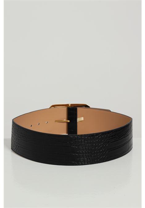 Cintura Tinta Unita Con Fibia Oro ELISABETTA FRANCHI   Cinture   CT59S07E2110