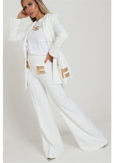 Pantalone A Zampa Con Logo Pa34706e2 ELISABETTA FRANCHI | Pantaloni | PA34706E2360