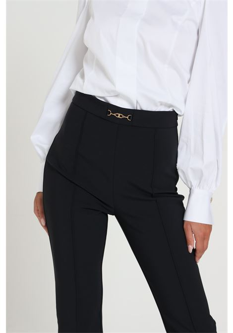 Pantalone A Zampa Modello Slim ELISABETTA FRANCHI | Pantaloni | PA36306E2110