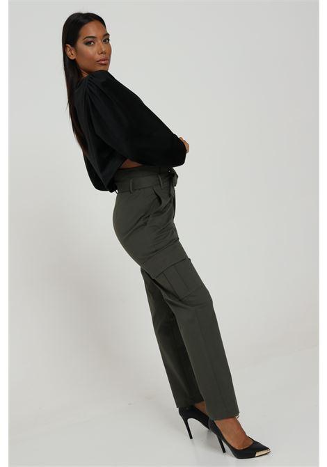 Pantalone Cargo Con Cintura In Vita Modello Slim FEMINISTA | Pantaloni | ALABAMAVERDE