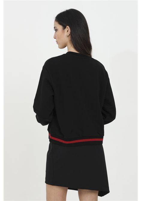 Crew neck sweatshirt with central logo application GAELLE   Sweatshirt   GBD7081NERO