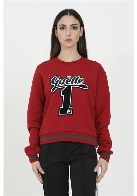Crew neck sweatshirt with central logo application GAELLE | Sweatshirt | GBD7081ROSSO