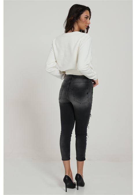 Jeans Con Banda Fluo GAELLE | Jeans | GBD7376NERO