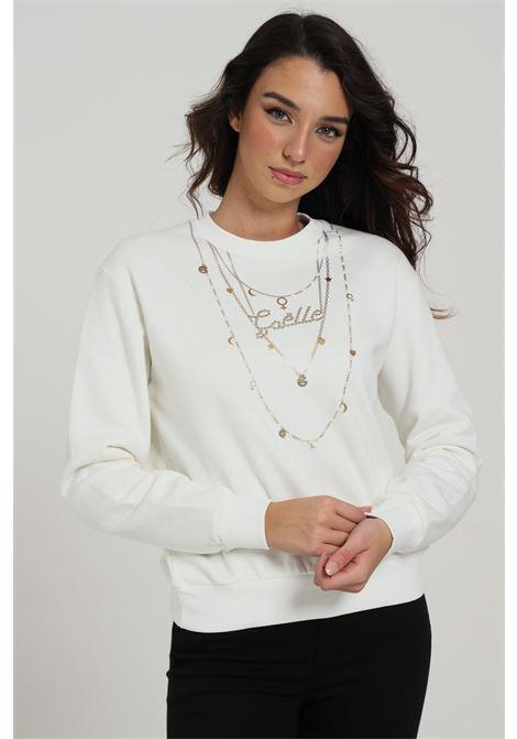 GAELLE   Sweatshirt   GBD8170OFF WHITE
