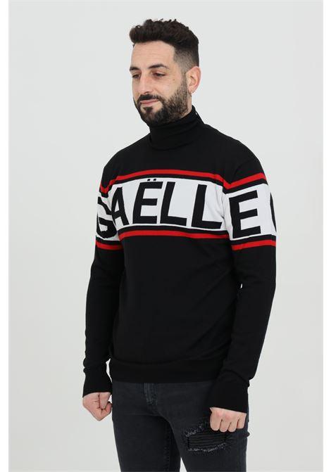 Maglioncino a collo alto con maxi logo frontale GAELLE | Maglieria | GBU3144NERO