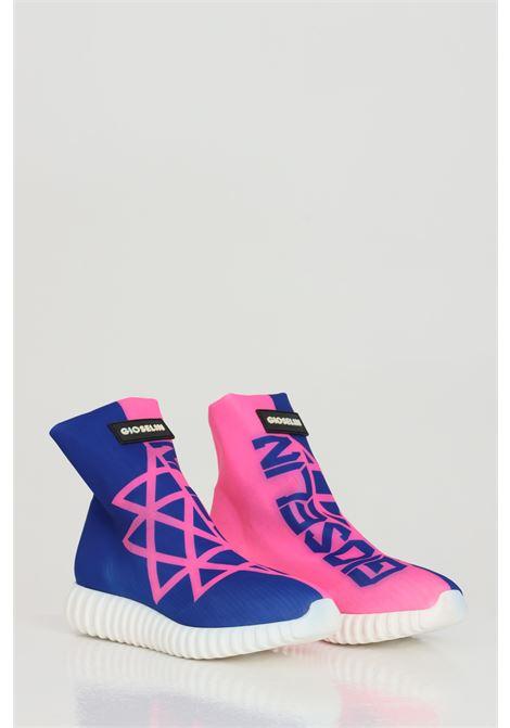 Sneakers con stampa geometrica bicolore GIOSELIN   Sneakers   LIGHT-FIFTYBLU-FUXIA