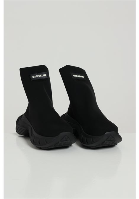 Sneakers Phox nero-nero Gioselin modello calzino a stivaletto senza lacci logo frontale e para alta GIOSELIN | Sneakers | PHOXNERO-NERO