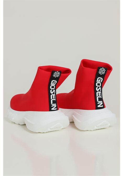 Sneakers Phox rosso-bianco Gioselin modello calzino a stivaletto senza lacci logo frontale e para alta GIOSELIN | Sneakers | PHOXROSSO