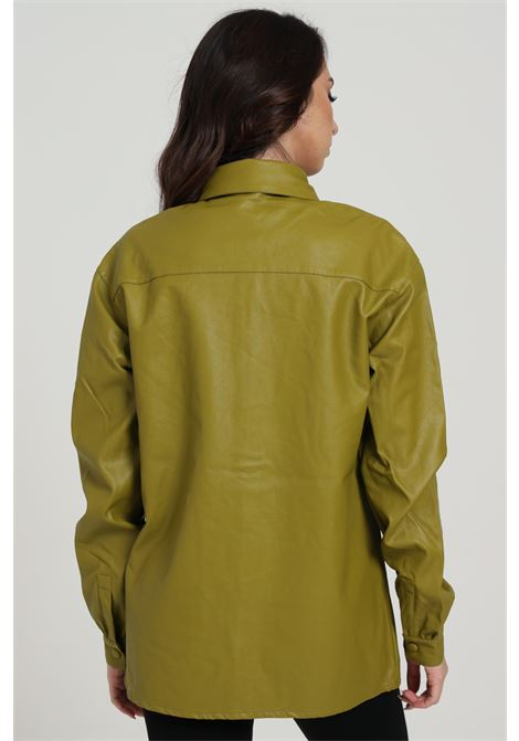 Camicia In Eco Pelle GLAMOROUS | Camicie | AN3780MOSS GREEN