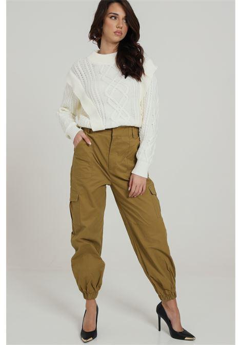 Pantalone Cargo Polsini Elastici GLAMOROUS | Pantaloni | AN3782KHAKI