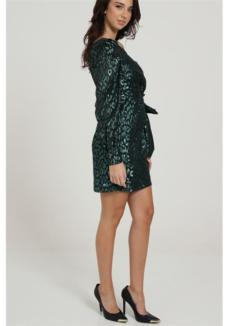 GLAMOROUS | Dress | GC0361GREEN LEOPARD