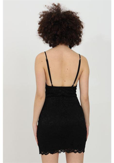 Lace dress with V-neck HAVEONE | Dress | APA-D029NERO