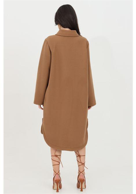 Cappotto donna cammello Haveone lungo con bottoni e fondo ampio HAVEONE | Cappotti | KMA-D020CAMMELLO