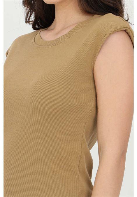 Sleeveless t-shirt. Brand: Haveone HAVEONE | T-shirt | MJO-D025CAMMELLO