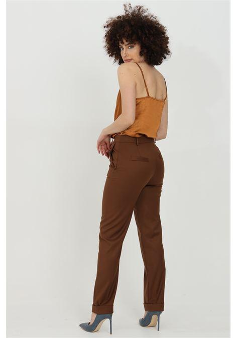 Pantalone taglio classico con risvolto sul fondo HAVEONE | Pantaloni | PLP-D048BRUCIATO