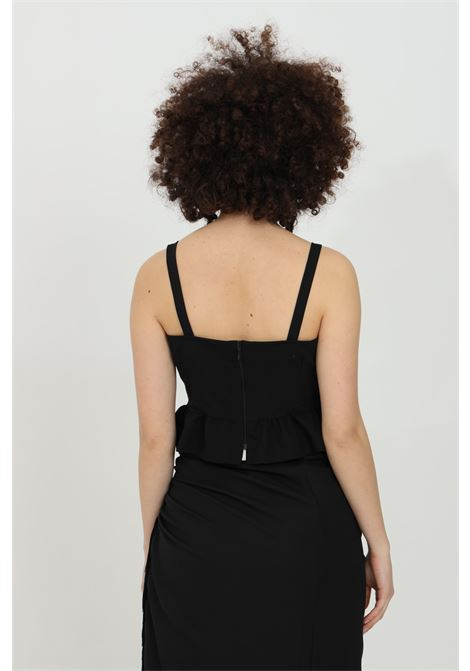 Top with flared flounce on the bottom HAVEONE | Top | RLA-D001NERO