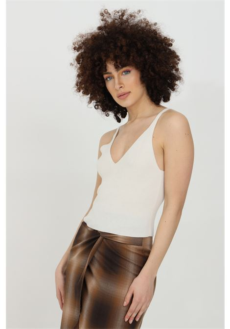 Wool top in solid colour KONTATTO | Top | 3M8110PANNA