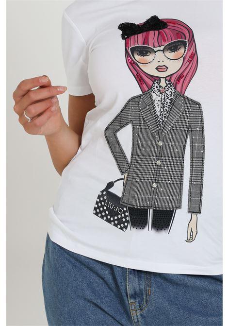 T-shirt Con Stampa Wf0531j5003 LIU JO | T-shirt | WF0531J5003T9360