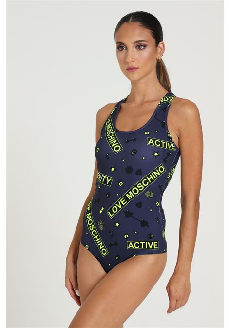 Body Stampato A Contrasto LOVE MOSCHINO | Body | W900200E21660002