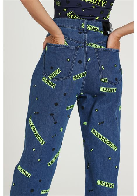 Jeans Con Stampe Wq44571t021a LOVE MOSCHINO | Jeans | WQ44571T021A031C