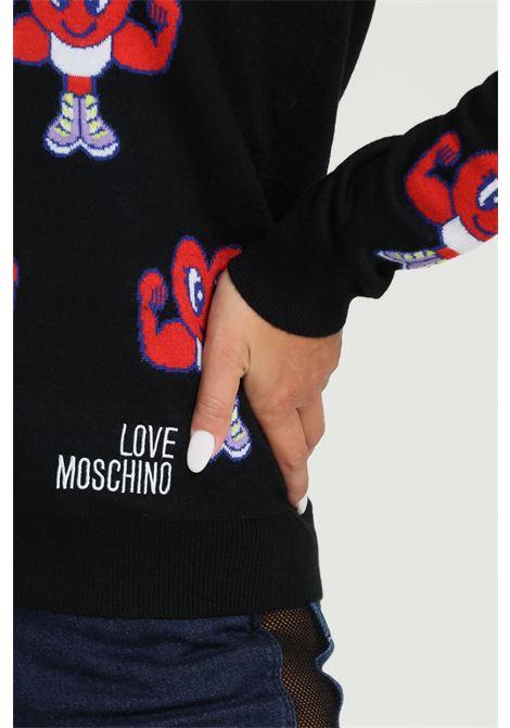 Maglioncino Girocollo Con Stampa Colorata LOVE MOSCHINO | Maglieria | WS36G11X1306C74
