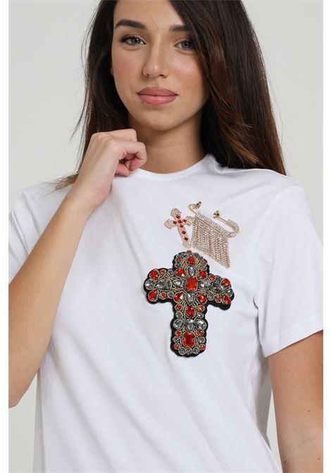 T-shirt con applicazione MAISON 9 PARIS D | T-shirt | M4109BIANCO