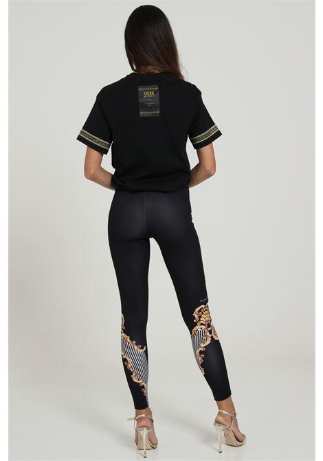 Leggins Con Stampa Modello Slim MAISON 9 PARIS D | Leggings | P629NERO