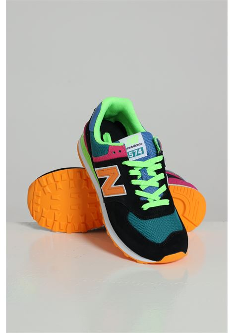 Sneakers Bassa Logata Ml574ma2d12 NEW BALANCE | Sneakers | ML574MA2D12BLACK/ORANGE/BL