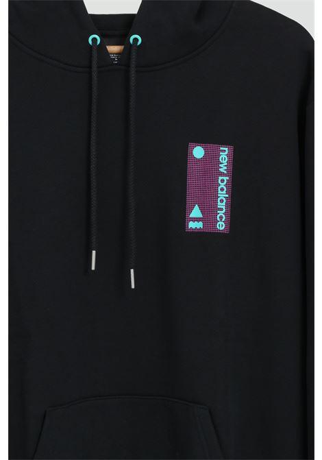 Felpa con cappuccio NEW BALANCE | T-shirt | MT03536BKBLACK