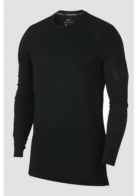 T-shirt Nike nera con manica lunga NIKE | T-shirt | 891601010