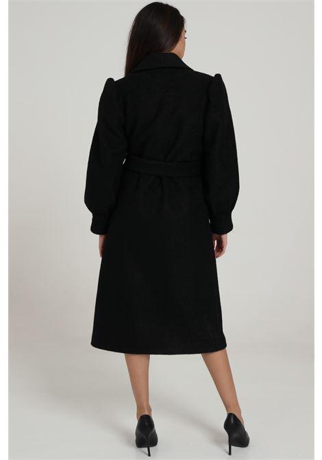Cappotto Tinta Unita Con Cintura In Vita REVISE | Cappotti | RI20186NERO