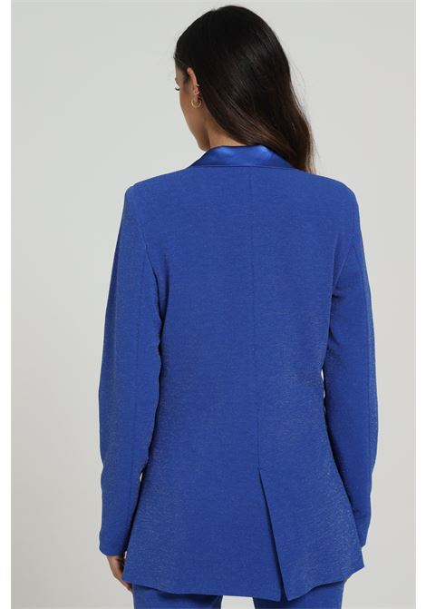 Jacket with glitter and button closure REVISE | Blazer | RI20204BLU MARA