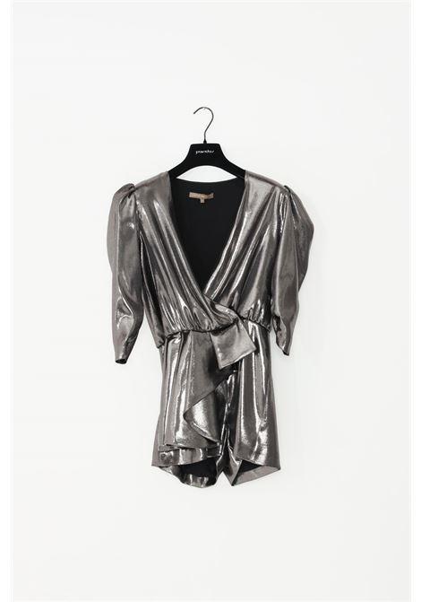 Tuta donna silver simona corsellini casual effetto satinato SIMONA CORSELLINI | Tute | A19CMTU009-010000