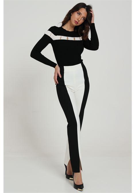 Pantalone bicolore con spacco SIMONA CORSELLINI | Pantaloni | A20CPPA005-010305