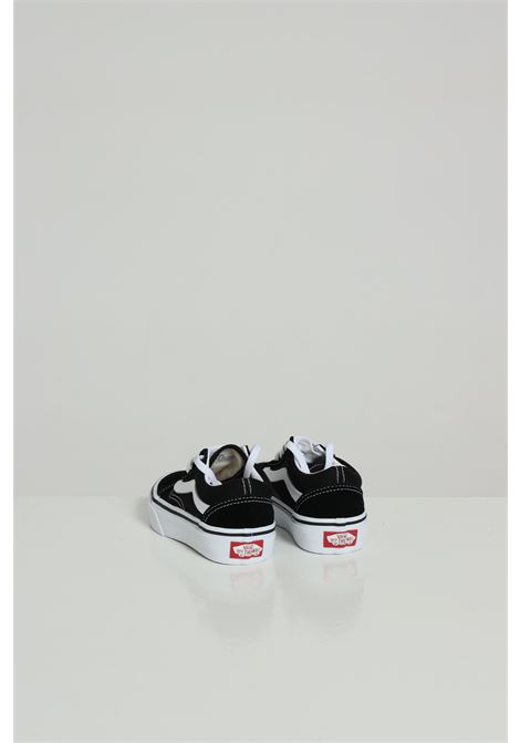 Black sneakers in solid color, closure with laces. Baby model. Brand: Vans VANS | Sneakers | VN000W9T6BT16BT1