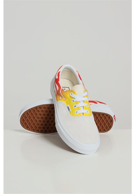 Sneakers bambino/a bianco Vans con stampa fiamme, chiusura con lacci VANS | Sneakers | VN0A4BV42231TRUE WHIT/CLASS